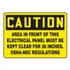 Accuform Signs MELC639VS Caution Sign, 7 x 10In, BK/YEL, Self-ADH