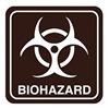 Intersign 62200-7 BRITTANY BLU Biohazard Sign, 5-1/2 x 5-1/2In, PLSTC, SYM