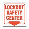 Accuform Signs PSP430 Lockout Sign, 8 x 8In, R/WHT, ACRYL, ENG