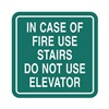 Intersign 62189-10 MERIDIAN Fire Stairways Sign, 5-1/2 x 5-1/2In, ENG