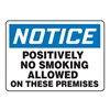 Accuform MSMK803VP Notice No Smoking Sign, 10 x 14In, PLSTC