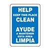 Accuform Signs SBMHSK973VP Maintenance Sign, 14 x 10In, WHT/BL, PLSTC