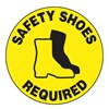 Accuform MFS316 Floor Sign, 8In, Safety Shoes Required