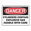 Accuform MCPG002VS Danger Sign, 7 x 10In, R and BK/WHT, ENG