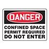 Accuform MCSP026VA Danger Sign, 10 x 14In, R and BK/WHT, AL