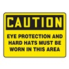 Accuform MPPEC33VP Caution Sign, 10 x 14In, BK/YEL, PLSTC, ENG