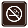 Intersign 62184-7 BRITTANY BLU No Smoking Sign, 5-1/2 x 5-1/2In, PLSTC