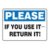 Accuform Signs MHSK931VP Maintenance Sign, 7 x 10In, BL and BK/WHT