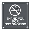 Intersign 62186-8 DELAWARE No Smoking Sign, 5-1/2 x 5-1/2In, ENG, SURF