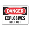 Accuform MCHL082VP Danger Sign, 7 x 10In, R and BK/WHT, ENG