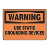 Accuform MELC310VP Warning Sign, 10 x 14In, BK/ORN, PLSTC, ENG