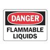 Accuform MCHD09BVP Danger Sign, 7 x 10In, R and BK/WHT, PLSTC