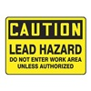 Graphic Alert MCAW610VP Caution Sign, 10 x 14In, BK/YEL, PLSTC, ENG