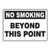 Accuform MSMK943VP No Smoking Sign, 7 x 10In, BK/WHT, PLSTC