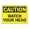 Accuform MECR601VP Caution Sign, 7 x 10In, BK/YEL, PLSTC, ENG