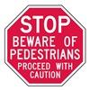 Lyle ST-015-6HA Stop Sign, 6 x 6In, WHT/R, AL, Text