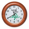 Sales & Marketing Associates 551B-B Wall Clock, 12 In, Safety is for Life
