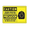 Graphic Alert MSPP615VA Caution Sign, 7 x 10In, BK/YEL, AL, SURF