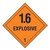 Stranco Inc HMSL-0102-V250 DOT Label, Black/Orange, 4 In. H, 4 In. W