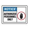 Accuform LADM803VSP Label, Authorized Personnel Only, PK5