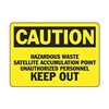 Accuform MCHL645VS Caution Sign, 7 x 10In, BK/YEL, ENG, Text