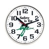 Sales & Marketing Associates 519W WHITE CASE Wall Clock, Safety is for Life, 12 in.