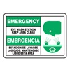 Accuform Signs SBMFSD928MVS Eye Wash Sign, 7 x 10In, GRN and BK/WHT