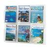 Safco 5607CL Literature Organizer, 6 Magazine