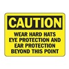 Accuform MPPE422VP Caution Sign, 7 x 10In, BK/YEL, PLSTC, ENG