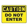 Accuform MADM629VS Caution Sign, 7 x 10In, BK/YEL, ENG, Text