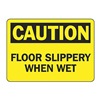 Accuform Signs MSTF611VS Caution Sign, 7 x 10In, BK/YEL, Self-ADH