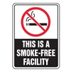 Accuform MSMK533VP No Smoking Sign, 10 x 7In, R and WHT/BK