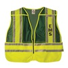 Ml Kishigo 8053F/2X-4X Pro Police Safety Vest, Green, 2XL/4XL