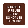 Sign Comply 42307-16 BURGUNDY Fire Stairways Sign, 5-1/2 x 5-1/2In, ENG
