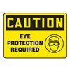 Accuform MPPE795VP Caution Sign, 7 x 10In, BK/YEL, PLSTC, ENG