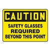 Accuform MPPE647VA Caution Sign, 7 x 10In, BK/YEL, AL, ENG, Text