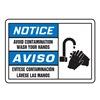 Accuform MSRS814VA Notice Sign, 7 x 10In, R, BL and BK/WHT, AL