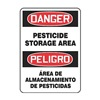 Graphic Alert MSCA108VS Danger Sign, 14 x 10In, R and BK/WHT, Text