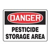 Accuform MCAW109VS Danger Sign, 10 x 14In, R and BK/WHT, ENG