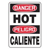 Accuform MSPD59VS Danger Sign, 14 x 10In, R and BK/WHT, Text