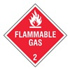 Stranco Inc DOTP-0038-PS Vehicle Placard, Flammable Gas w Picto