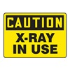 Accuform MRAD612VS Caution Radiation Sign, 10 x 14In, BK/YEL