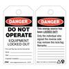 Zing 7010 Danger Tag, 5-3/4 x 3 In, Plstc, OSHA, PK10