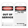 Zing 7011 Danger Tag, 5-3/4 x 3 In, Plstc, OSHA, PK10