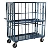 Jamco HZ272-P6 Stock Cart, 3 Slat Sides, 2 Shelves, 24x72