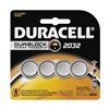 Duracell DL2032B4 Battery, 2032, Lithium, 3V, PK4