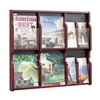Safco 5703MH Magazine/Pamphlet Display, Mahogany/Blk