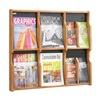 Safco 5703MO Magazine/Pamphlet Display, Med Oak/Blk