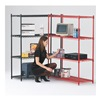 Approved Vendor CC2448BL-SR Wire Shelving Cart, 800 lb., 68 In.H