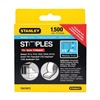 Stanley TRA706TCS Narrow Staple, 27/64, 3/8 In Leg, Pk 1500